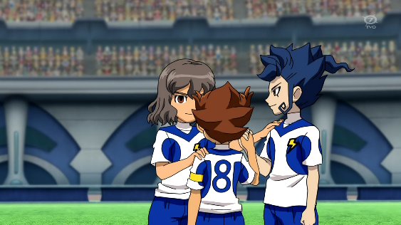File:Shindou Tsurugi Tenma celebrating their goal Galaxy 1 HQ.png