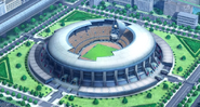 The Holy Road Stadium from the outside HQ