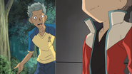 Domon getting really angry about how kageyama does things