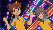 Tenma And Shindou Happy About The First Goal GO 34 HQ