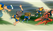 Raimon's defense broken by Zanark (CS 25 HQ)