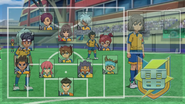 Raimon's formation against Tengawara GO 9