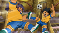 Amagi and Kurumada being beaten by Dragonlink shoot.png