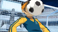 Endou gets his face hit
