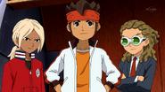 Endou along with Gouenji and Kidou