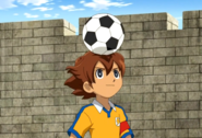 Tenma playing soccer