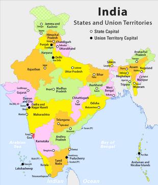 India - administrative map