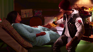 Delsin healing Betty's leg (Good Karma)