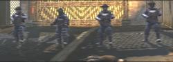 SWAT in front of Stampton Bridge