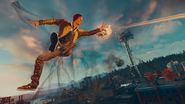 Good Delsin in Cole's Jacket uses Smoke Shot mid-air