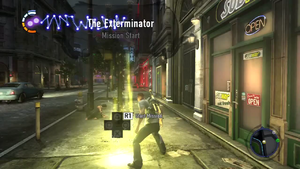 The Exterminator mission start (inFamous 2)