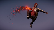 Evil Delsin in Cole's Jacket performs a Comet Drop