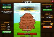 Logging screen