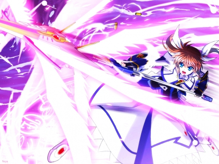 File:Nanoha Takamachi Oh Crap Giant Lasers Incoming.jpg