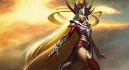 Radiant Arcane Supergirl Splash Art Skin