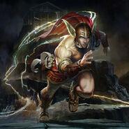 The Flash Olympian Hermes Skin Costume Art