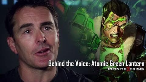 Behind the Voice Nolan North as Atomic Green Lantern