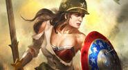 Sgt. Diana Wonder Woman Splash Art Skin