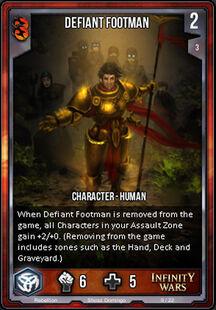 Defiant Footman
