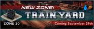Train yard banner