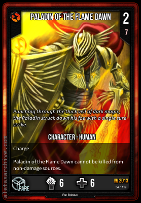 IW2013 PALADIN OF THE FLAME DAWN