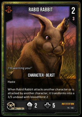 INFESTATION RABID RABBIT