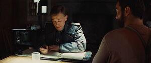 Landa's file folder, ink and pen