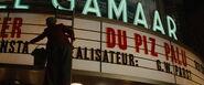 Shosanna removes the Piz Palu film letters