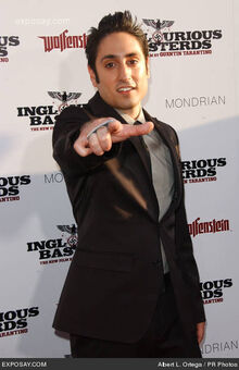 Omar Doom at the Inglourious Basterds premiere in Los Angeles
