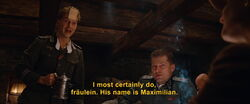 Wilhelm tells Bridget his son's name
