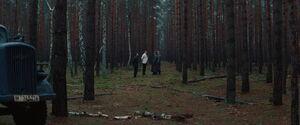 Landa, Hermann, Raine and Utivich in the border woods