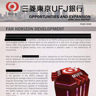 Promotional information released by MUFG