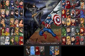 Marvel vs DC Selection Screen