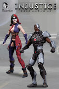 Harley Quinn and Cyborg