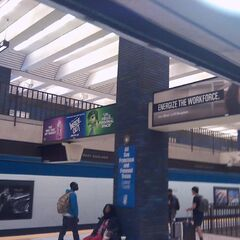 Banner ad seen inside a BART station during the film's first week of Disgust and Fear.