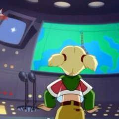 The back of teenage Penny's belly shirt