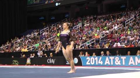 Roxana Popa Nedelcu - Floor Exercise - 2014 AT&T American Cup