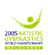 Artistic Gymnastics 2005 Worlds logo