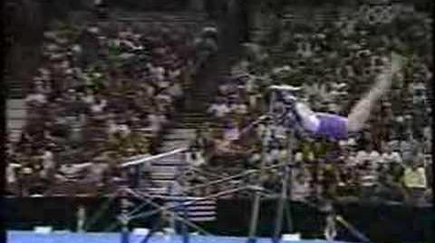 Allana Slater - 2003 Worlds Team Finals - Uneven Bars