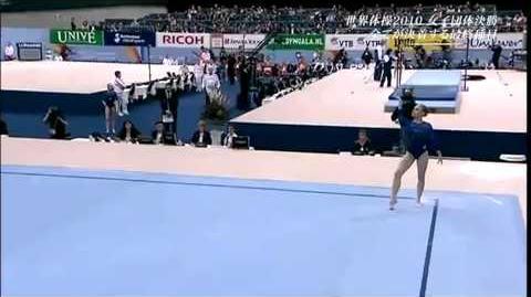 Ksenia Afanasyeva - 2010 World Championships - Team Finals - Floor Exercise