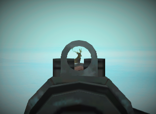Rifle sighted
