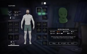 Balaclava clothing interface
