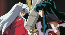 Kaguya spars with Inuyasha