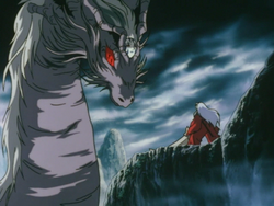 Ryukotsusei faces off against Inuyasha