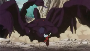 Scorpion demon battles Inuyasha 001