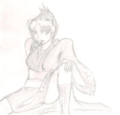 File:Tsubaki cosplaying that girl form GinTama whos name starts with Tsu too i forget what it is.jpg