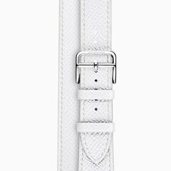 Blanc Hermes Double Strap Band