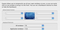 Dashboard & Exposé (System Preferences)