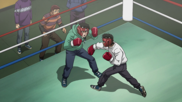 File:Ippo sparring with Kimura.png