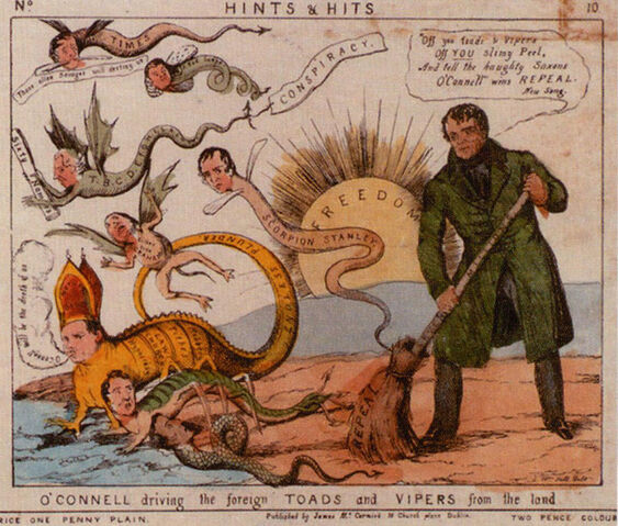 File:10 O'Connell driving the foreign toads and vipers from the land.jpg